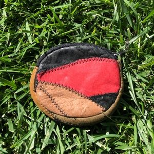🌎 vintage leather coin purse